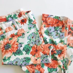 ANTHROPOLOGIE | CARTONNIER | FLORAL TROUSERS
